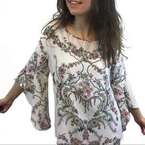 Soho Floral Blouse with Bell Sleeves